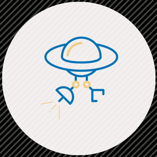 alien, antenna, satellite, sputnik, ufo, ufo icon icon