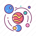galaxy, orbit, planet, solar system, space icon