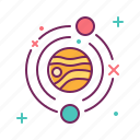 galaxy, garbage, orbit, space, trash, universe icon