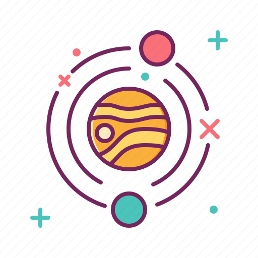galaxy, garbage, orbit, space, trash, universe icon