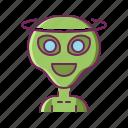 alien, angel, creature, good, monster icon