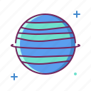 neptune, planet, space, universe icon