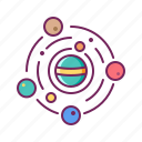 galaxy, orbit, planet, solar system, space, universe icon