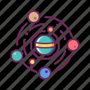 galaxy, orbit, planet, solar system, space, universe icon