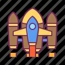 plane, rocket, ship, space, spaceship icon