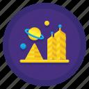 astronomy, colony, distant, space icon