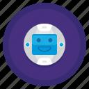 floating, head, machine, robot icon