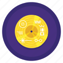 golden, record, space, voyager icon