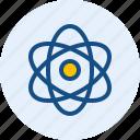 atom, ion, neuron, space icon