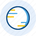 moon, planet, solar system, space icon