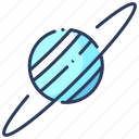 astronomy, galaxy, planet, space, system, universe, uranus icon