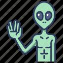 alien, astronomy, fiction, galaxy, space, ufo, universe icon