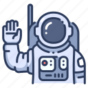 astronaut, astronomy, cosmonaut, galaxy, science, space, universe icon