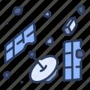 astronomy, debris, earth, galaxy, junk, orbit, space icon