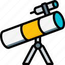 astronaut, space, telescope icon