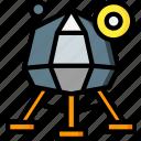 astronaut, lunar, module, space