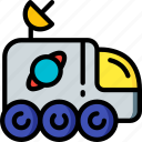 astronaut, buggy, moon, space icon