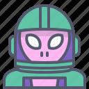 alien, astronaut, interstellar, space, travel icon