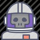 astronaut, interstellar, skull, space, travel icon