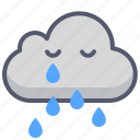 cloud, cloudy, rain, thunder, weather icon