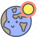 cosmos, day, earth, globe, planet, solar, space icon