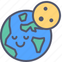 cosmos, earth, globe, night, planet, solar, space icon