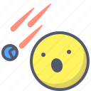 cosmos, globe, meteor, planet, shower, solar, space icon