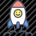 rocket, space, spaceship, travel icon
