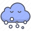 winter, snowing, cloud, smoke icon