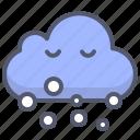 cloud, smoke, snowing, winter icon
