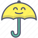 protection, umbrella, water, weather icon