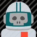 astronaut, interstellar, skull, space, travel