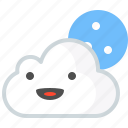cloud, cloudy, cry, moon, water, weather