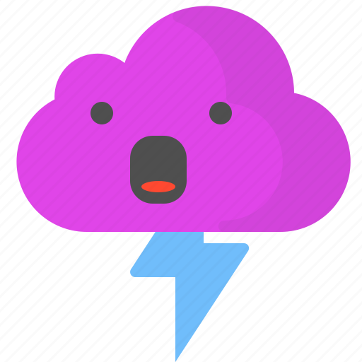 cloud, day, storm, summer, sunny, weather icon