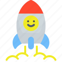 rocket, space, spaceship, travel icon