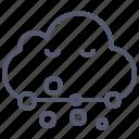 cloud, smoke, snowing, winter