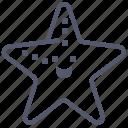 award, favourite, seastar, solar, space, star, system icon