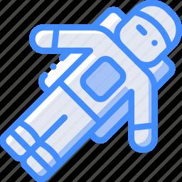 astronaut, man, space icon