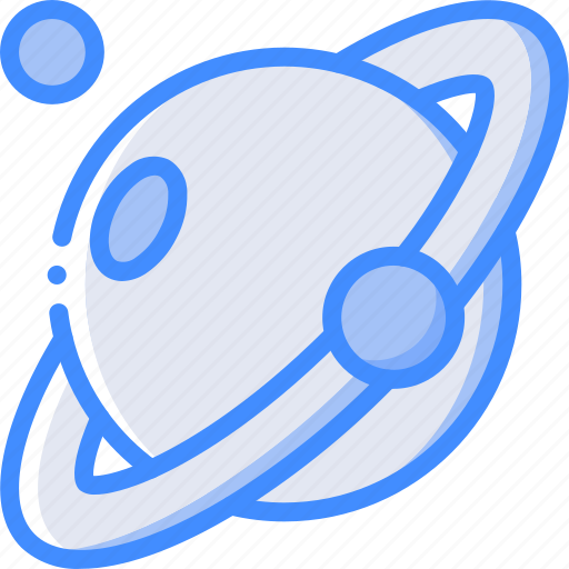astronaut, saturn, space icon