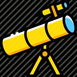 astronaut, space, telescope icon