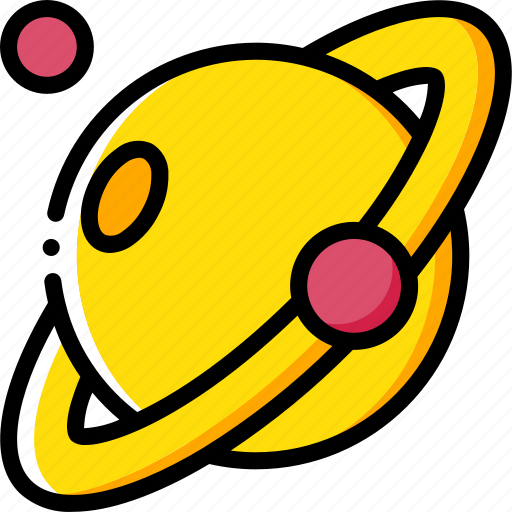 astronaut, saturn, space icon