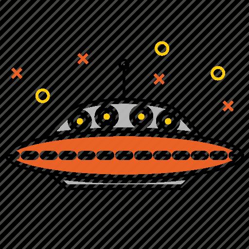 alien, fiction, ship, space icon