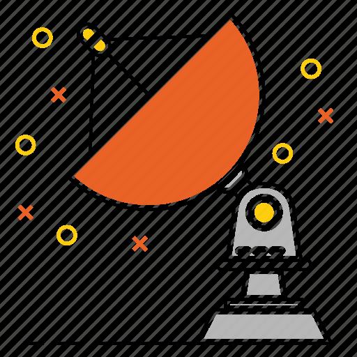 antenna, broadcast, communication, dish icon