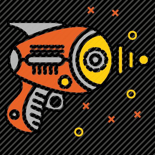 galaxy, gun, laser, space, technology, war, weapon icon