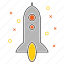 launch, mission, promotion, rocket, seo, space icon