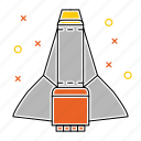 satellite, shuttle, space, spaceship icon