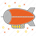 airship, blimp, transport, vehicle, zeppelin icon