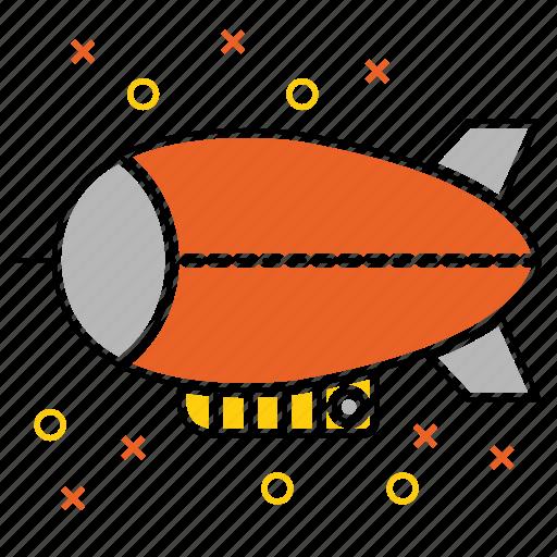 airship, blimp, transport, vehicle, zeppelin icon