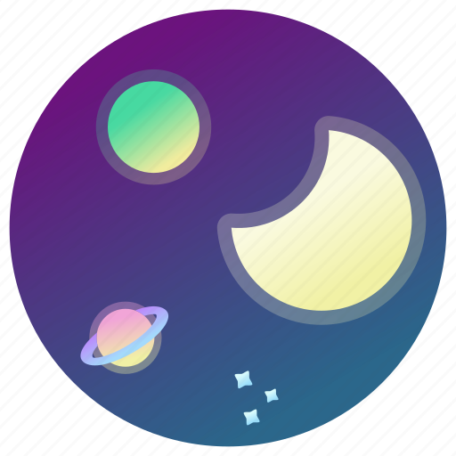 Astronomy, moon, planets, space, stars, universe icon - Download on Iconfinder