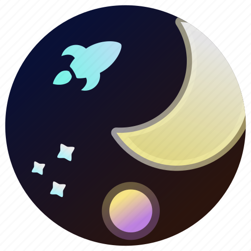 Astronomy, moon, planet, rocket, space, stars, universe icon - Download on Iconfinder